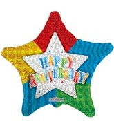 "18"" Happy Anniversary Star Balloon"