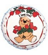 "9"" Airfill I love You Bear Balloon"