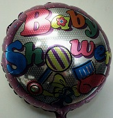 "18"" Baby Shwer Purple Border Mylar Balloon"