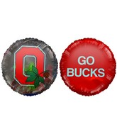 "9"" Go Bucks Ohio State Buckeyes Red Balloon"