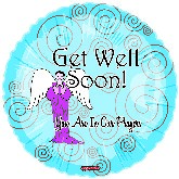 "18"" Get Well Soon Balloon.  You Are in Our Prayers"