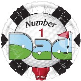 "18"" Number One Dad Golf Balloon"