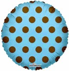 "9"" Airfill Only Airfill Only Brown Polka Dots on Blue"