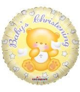 "18"" Baby&#39s Christening Bear Balloon"