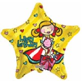 "18"" Happy Birthday Girlie Yellow Star"