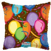 "18"" Balloons & Confetti Party Mylar Balloon"