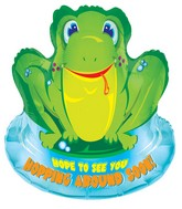 "28"" Frog Get Well Mylar Balloon"