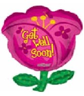 "36"" Jumbo Tulip Get Well Soon Balloon"