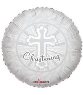 "18"" Christening Cross Mylar Balloon"