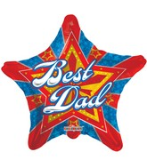 "18"" BEST DAD STARBURST"