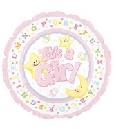 "18"" It&#39s a Baby Girl Star and Moon"
