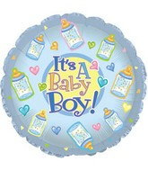 "18"" It&#39s a Baby Boy Bottles"