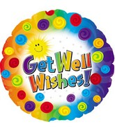 18'' Get Well Dots & Swirls
