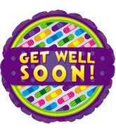 "18"" Get Well Soon Bandages Balloon"