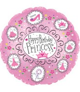 "9"" Airfill Happy Birthday Princess M29"