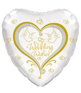 "18"" Wedding Wishes Two Doves"