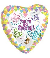"18"" You&#39re Special Pastel Butterfly Heart"