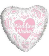 "18"" Wedding Wishes Paisley Pink"
