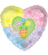 "18"" Get Well Flower Pot Heart"