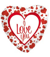 "18"" I Love You Red Heart Boarder"