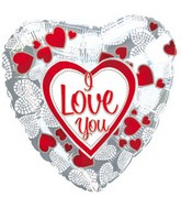 "17"" I Love You Mosaic Hearts Packaged"