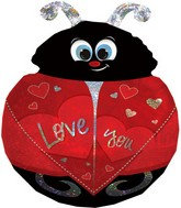 "27"" Love You Ladybug SuperShape Balloon"