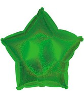 "18"" Green Dazzleloon Star Balloon"