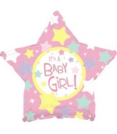 "18"" It&#39s a Baby Girl Many Stars"