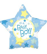"17"" It's a Boy Star Packaged"