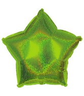 "9"" Airfill Lime Green Dazzleloon Star M142"