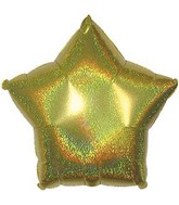 "4"" Airfill Gold Dazzleloon Star M161"