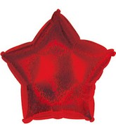 "4"" Airfill Red Dazzleloon Star M163"