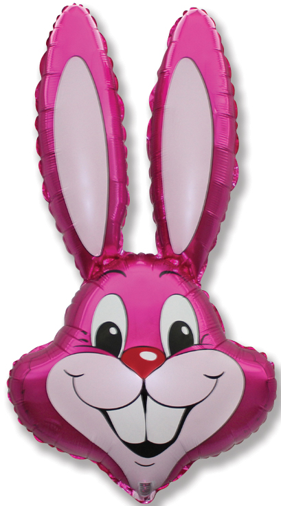 "35"" Rabbit Head Fuchsia"