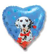 "18"" Dalmatian Rose Mylar Balloon"
