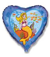 "18"" Mermaid Under Sea Mylar Balloon"