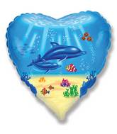 "18"" Dolphin Family Mylar Balloon"