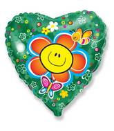 "18"" Smiley Face Flower  Balloon"