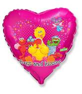 "18"" Sesame Street Hugs & Kisses Balloon"