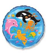 "18"" Mylar Balloon Sea World"