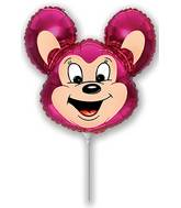 Mini Airfill Mighty Mouse Fuchsia Balloon