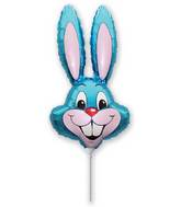 Airfill Only Blue Rabbit Balloon
