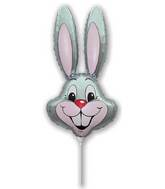 Airfill Only Grey Rabbit Balloon