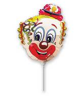 Airfill Only Clown Head Curly Balloon