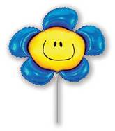 Airfill Only Blue Flower Balloon