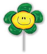 Airfill Only Green Flower Balloon