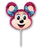 Airfill Only lolly Mouse Fuchsia Balloon