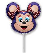 Airfill Only Babsy Mouse Violet Balloon