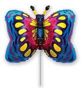 Airfill Only Blue Butterfly Balloon