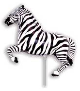 Airfill Only Black Zebra Balloon