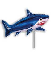 Airfill Only Strong Shark Blue Balloon